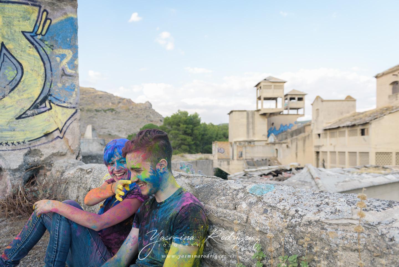 sesion fotos polvos holi colores
