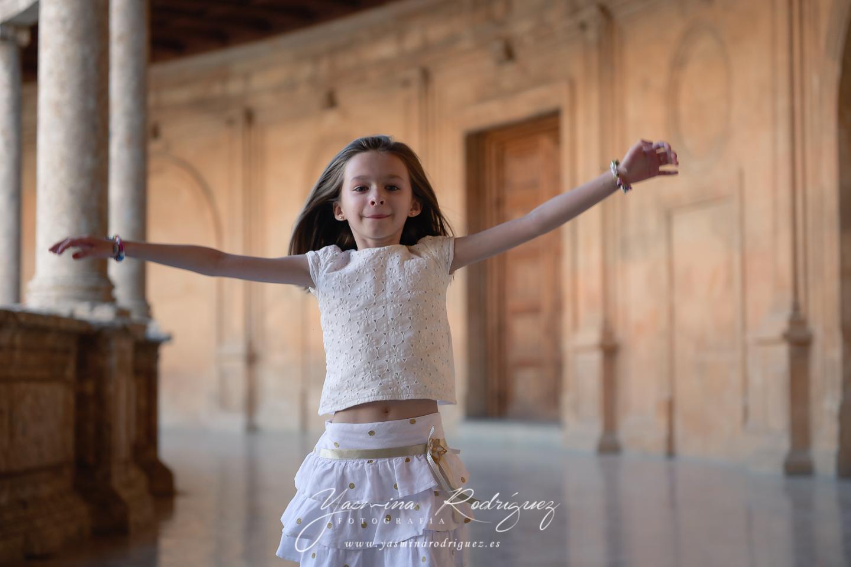 fotografía infantil alhambra palacio Carlos V